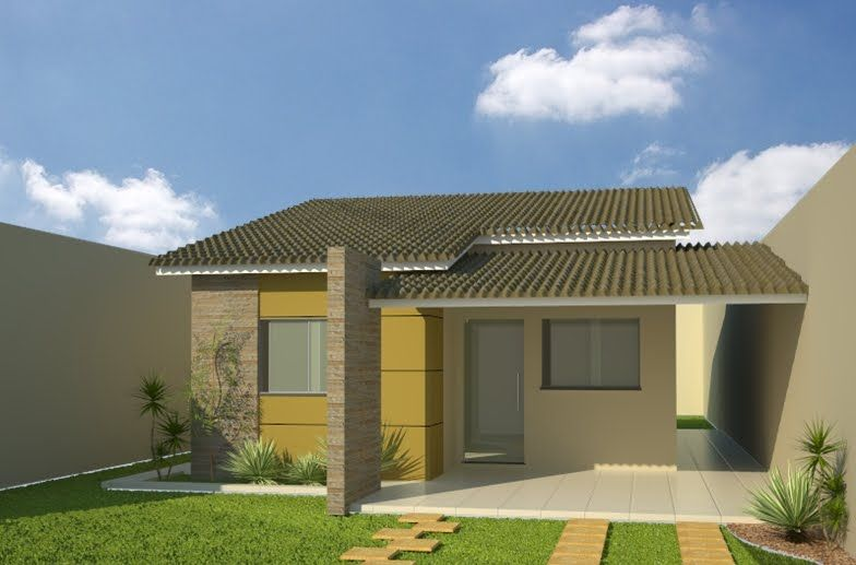 27 modelos de frentes de casas simples e modernas frente for Modelos de frentes de casas
