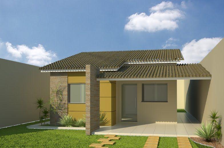 27 modelos de frentes de casas simples e modernas for Modelo de casa de 4x6