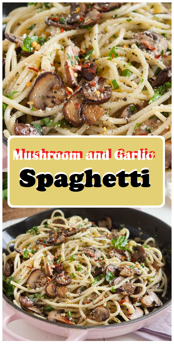 Mushroom And Garlic Spaghetti Mom S Cooking Resep Vegetarian Resep Sederhana Resep Pasta