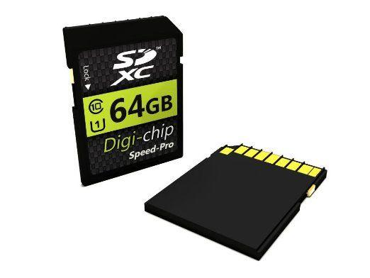 Digi-Chip 64GB CLASS 10 SDXC Speicherkarte für Sony: Amazon.de: Kamera