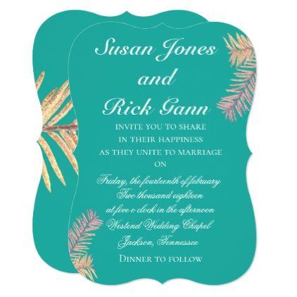 Tropical palm wedding invitations tropical palm wedding invitations wedding invitations cards custom invitation card design marriage party stopboris Choice Image