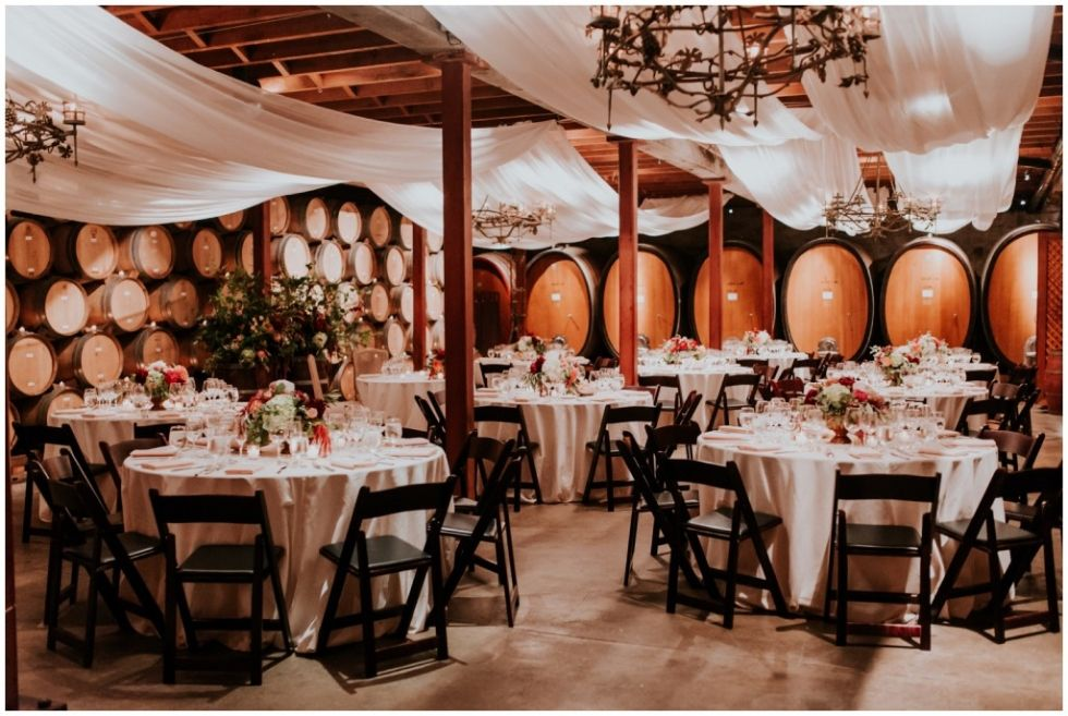 Classy and elegant wedding at V. Sattui winery in Napa