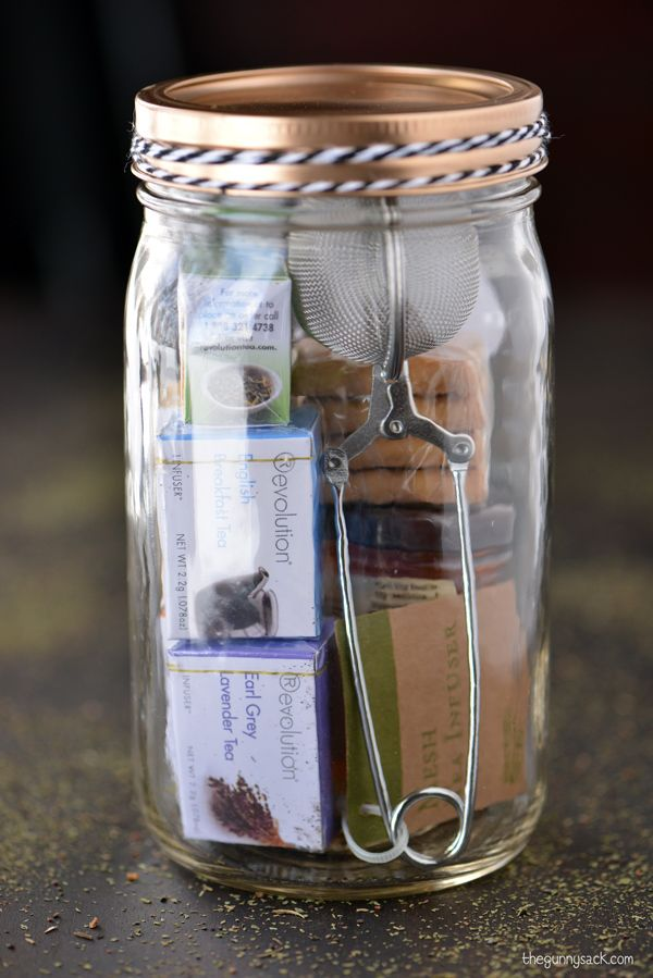 Best 25 tea gift baskets ideas on pinterest tea gifts for Homemade gifts in a jar for men