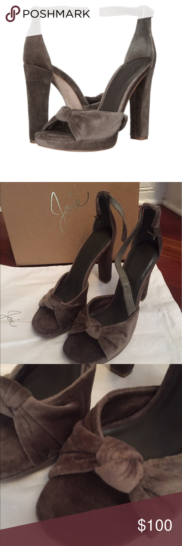 b2268164f46 NWT Joie Nabila Ash Green Velvet Sandals Heels Size 8.5! Velvet and super  cute for fall  ) New in box! Joie Shoes Heels