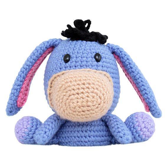 Gordo cara burro Amigurumi patrón | Pulseras, crochet, nudos ...