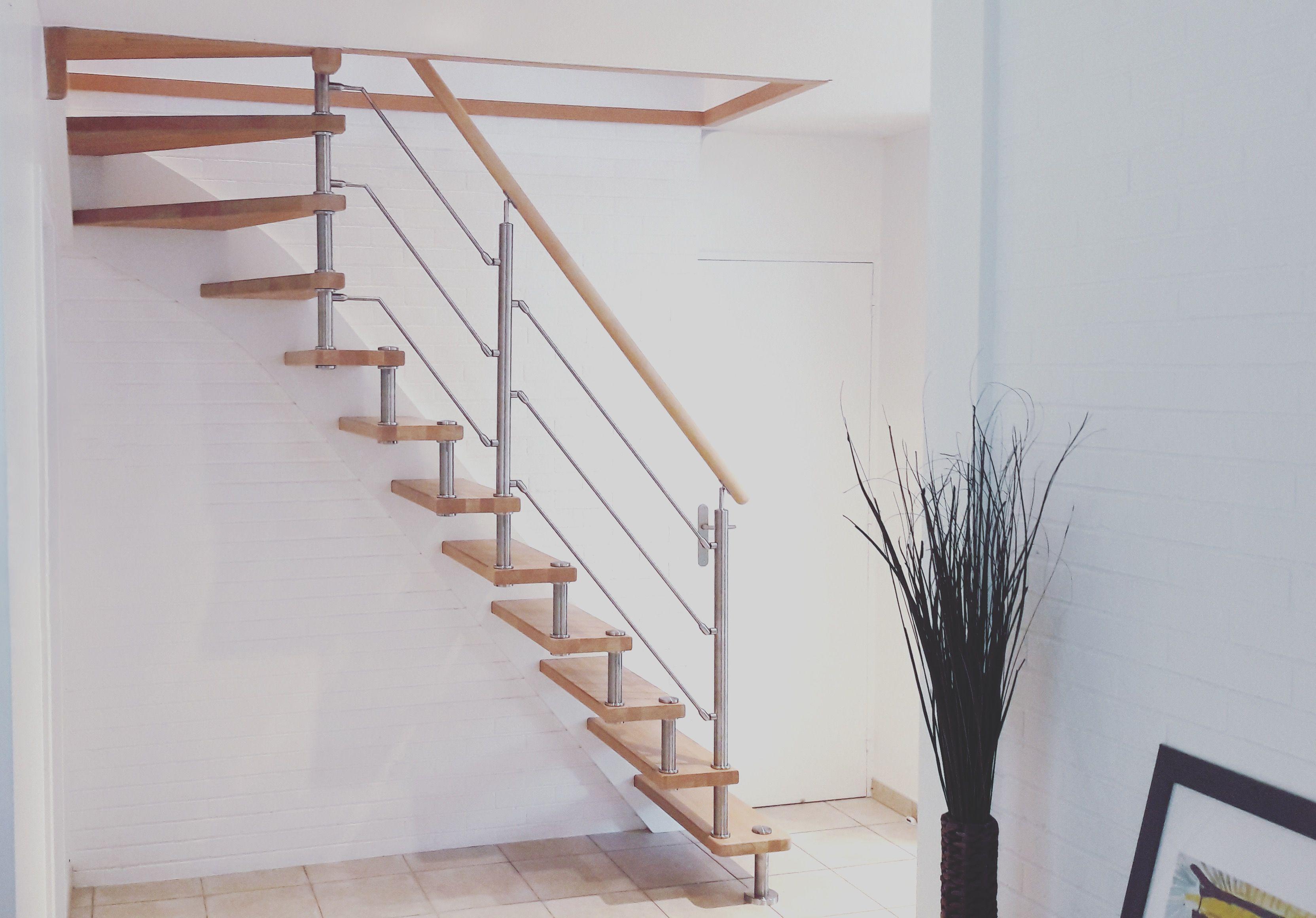 Escalier En Bois Design Et Contemporain A Entretoises En Inox