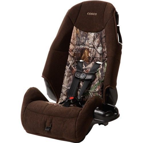 Cosco Realtree High Back Booster Car Seat Toddler Safety Harness Camo Boy Child
