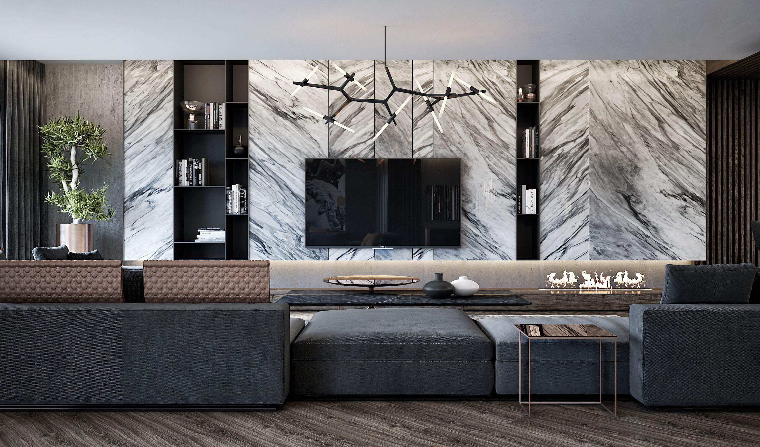 Luxury apartment on behance living room in 2018 pinterest