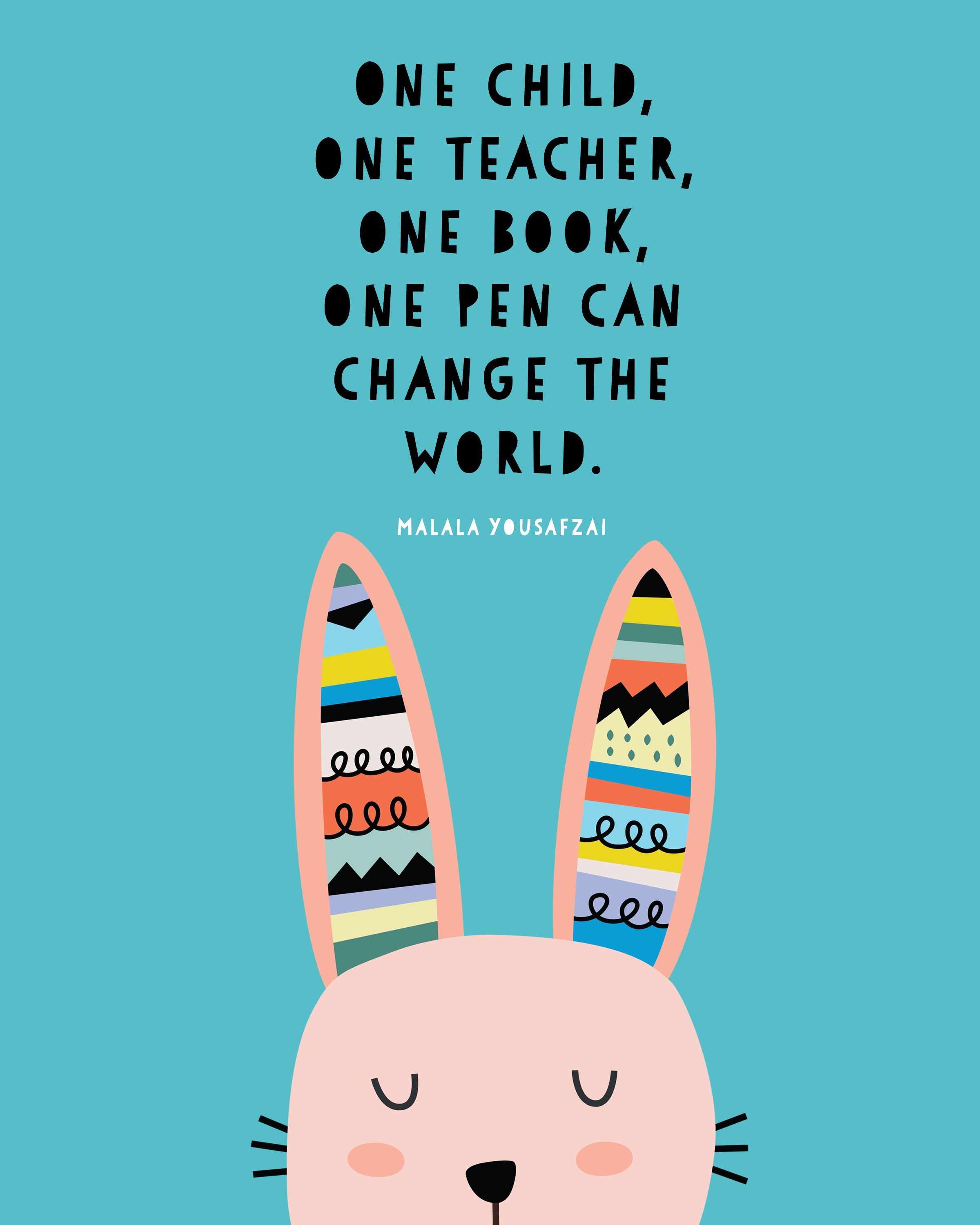 Free printable quote posters for kids from the most inspiring women ...