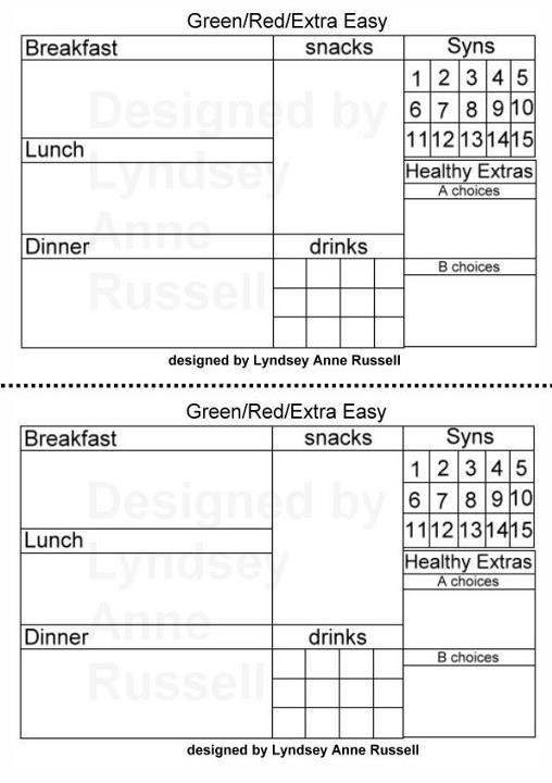 Slimming World Food Diary  Slimming World    Food Diary