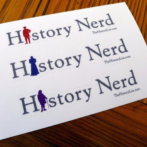 History Nerd Sticker Sheet with 3 Die Cut Stickers—Roosevelt, Anthony and Franklin The History List