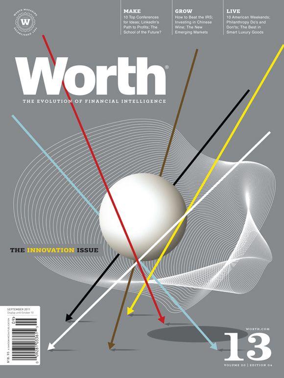 Worth, September 2011  Creative Director: Dean Sebring  Illustrator: Brian Stauffer  #SPDcoveroftheday