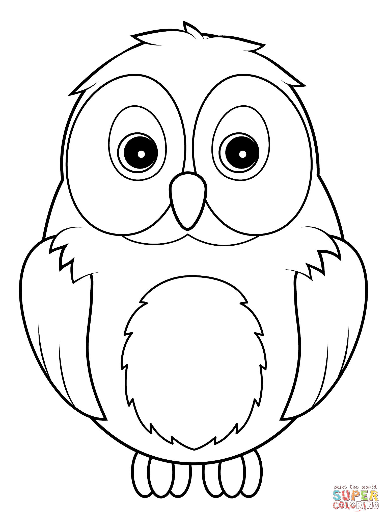 How To Draw A Cute Snowy Owl For Kids