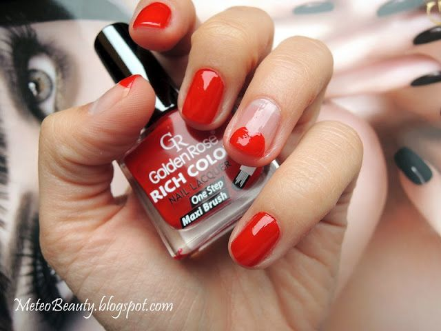 Meteo Beauty: Golden Rose Lips On Tips Manicure