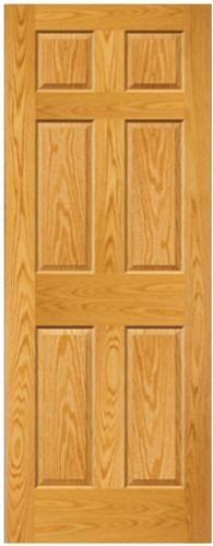 Mastercraft 30 X 80 Prefinished Golden Oak 6 Panel Int Door Slab Pocket Doors For Closets Updating House Oak Doors Tall Cabinet Storage