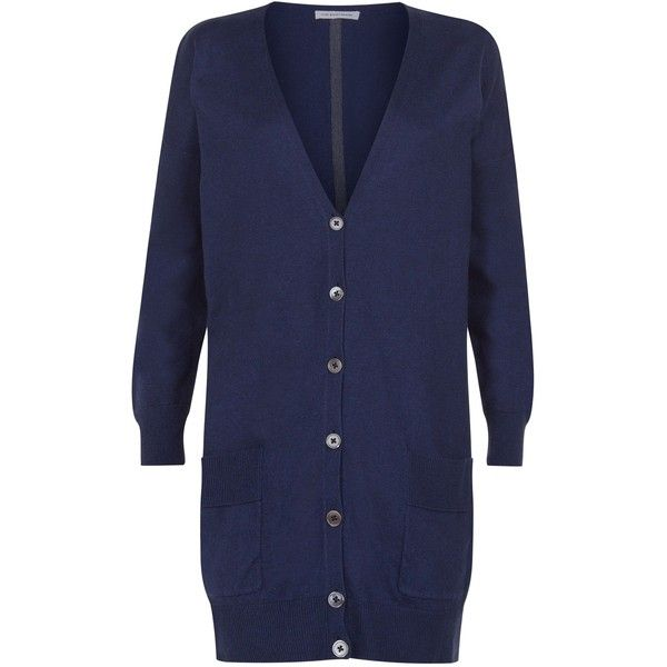 Fenn Wright Manson Leo Cardigan ($110) ❤ liked on Polyvore featuring tops, cardigans, navy, women, cotton cardigan, navy blue cardigan, striped boyfriend cardigan, layering cardigans and loose cardigan