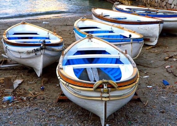 Nautical Home Decor - Italy Print - Capri Boats - Italian Beach Photograph - Blue White - Amalfi Coast - Beach Decor - Wall Art - 8x10 Print. $30.00, via Etsy.