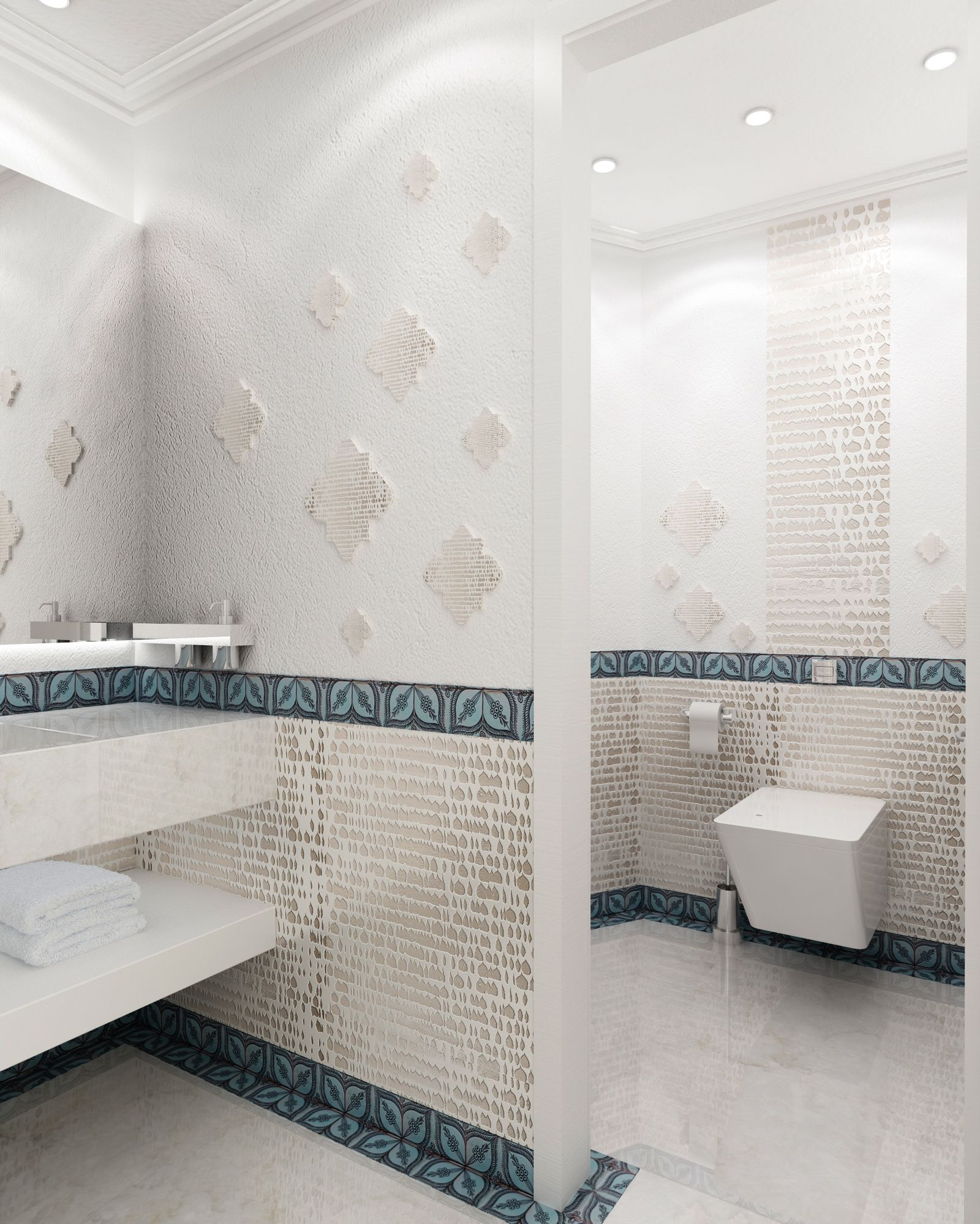 Modern Moroccan Bathroom Morocco Style Contemporary Design