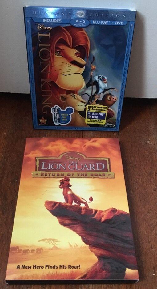 Disney Lion King Diamond Edition Blu Ray Lion Guard Return Of The Roar Dvd Disney Lion King Lion King Blu