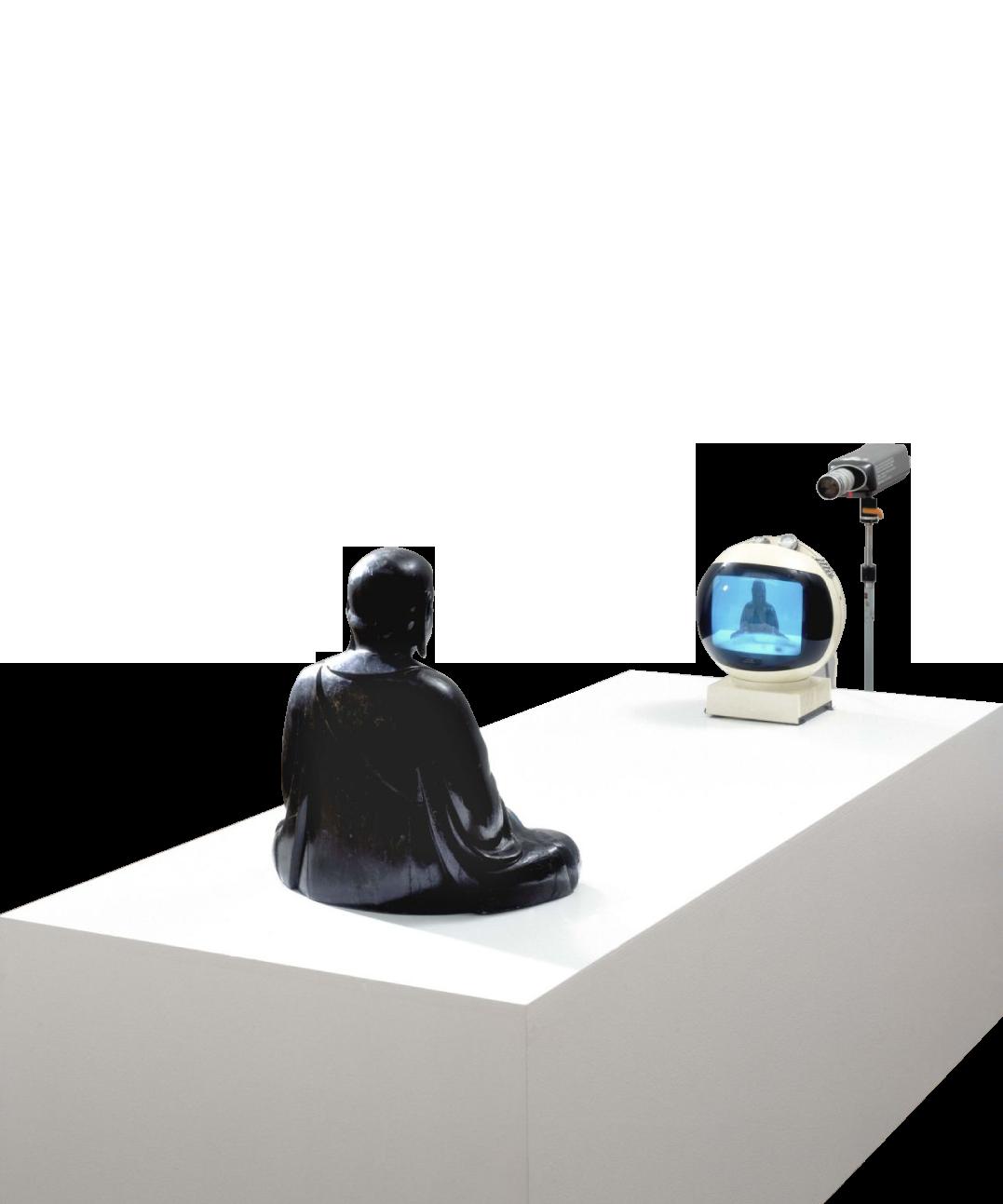 1974 Naim june Paik  tv Buddha