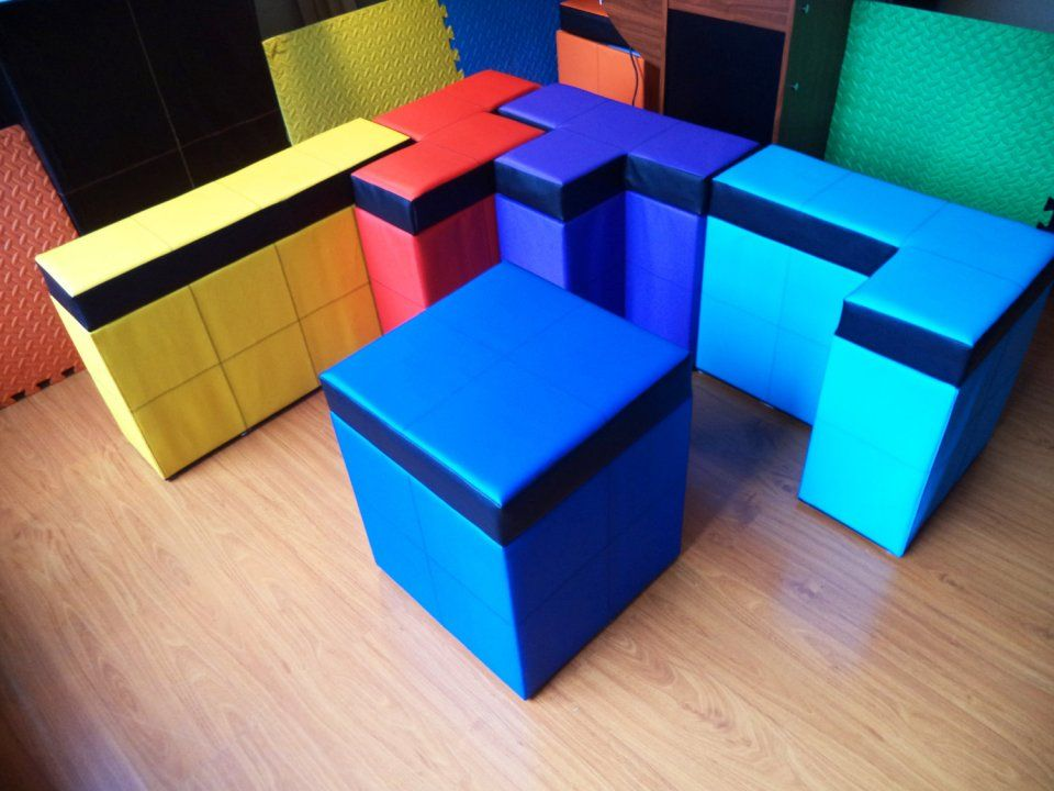Tetris Shaped Storage Benches Stack And Sit Gamers