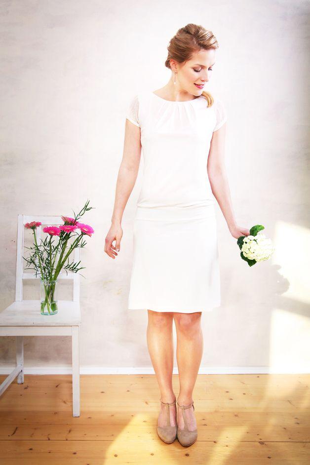 Brautkleid VALERIA mit Tüllärmeln cremeweiß   Brautkleid