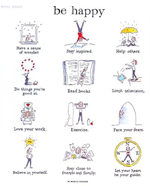 12 maneras para ser positivo y más feliz cada día!