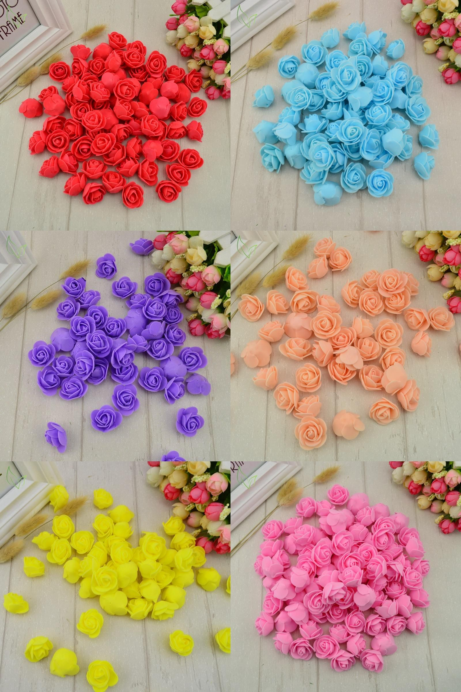 Visit To Buy 50 Pcs Pe Foam Fake Flower Roses Head Artificial