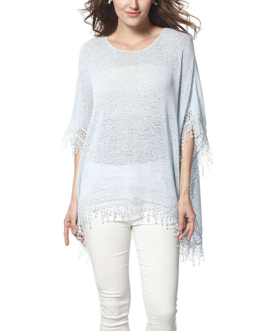 Love this Simply Couture Blue Crochet Sidetail Top by Simply Couture on #zulily! #zulilyfinds