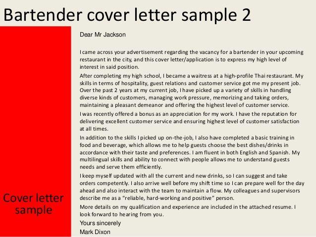 Ada pesan baik disetiap cerita Bahasan kali ini adalah tentang - Bartender Sample Resume