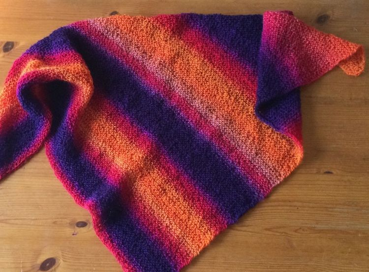 This Knit Shawl Pattern Was Written For The Zauberball Self Striping