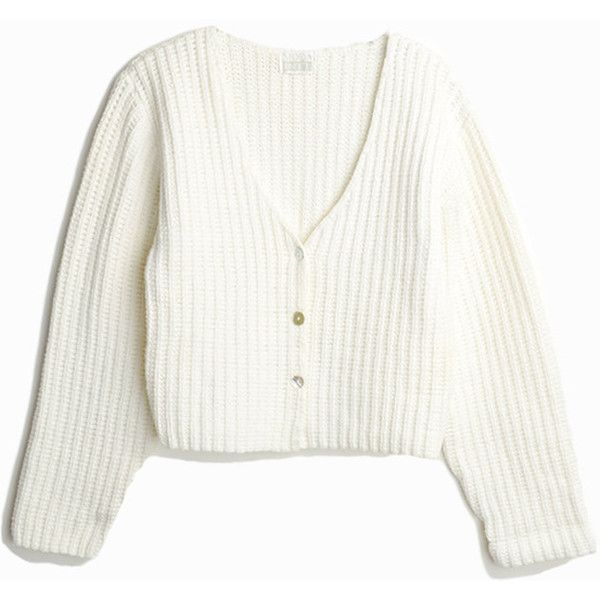 Vintage 90s Cropped White Cardigan Sweater Button-Front Cardigan ...