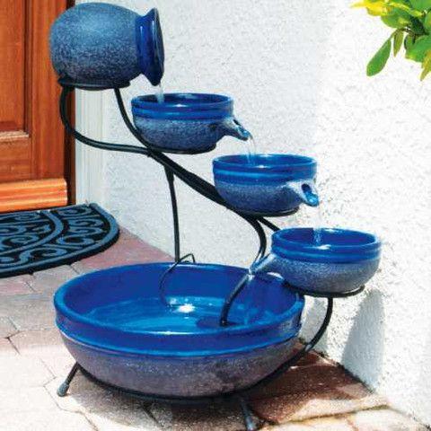 Smart Solar Ceramic Blueberry Cascade Solar Bird Bath Fountain Solar Water Fountain Solar Fountain Diy Solar Fountain