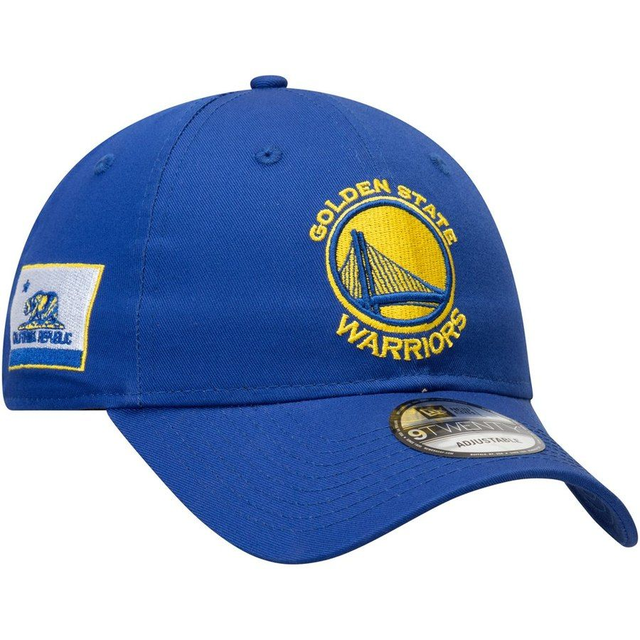 9b4f6e47158d36 Men's Golden State Warriors New Era Royal Flagged Side 9TWENTY Adjustable  Hat, Your Price: $23.99
