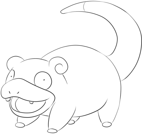 Slowpoke Coloring Page Pokemon Coloring Pages Coloring Pages Pokemon Coloring