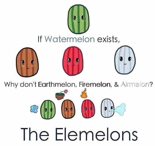 SOMEONE DREW THE ELEMELONS AND IT'S GLORIOUS AND ADORABLE