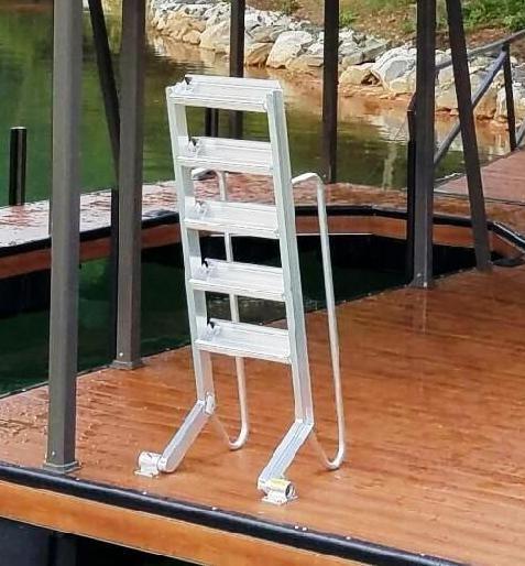 Wet Steps Dock Ladder Sloped Dock Ladder Aluminum Swim Ladder