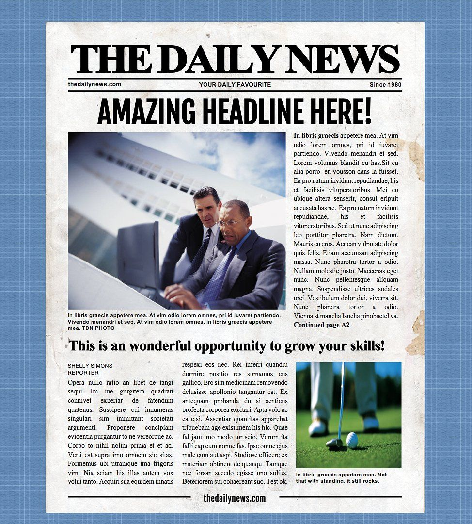 4 Page Microsoft Word Template by Newspaper Templates on