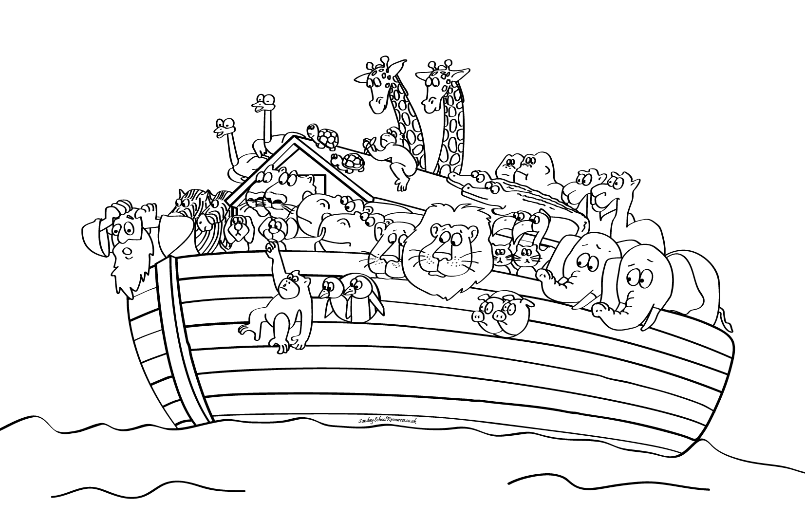 Noah Ark Coloring Pages | Sunday school coloring pages ...