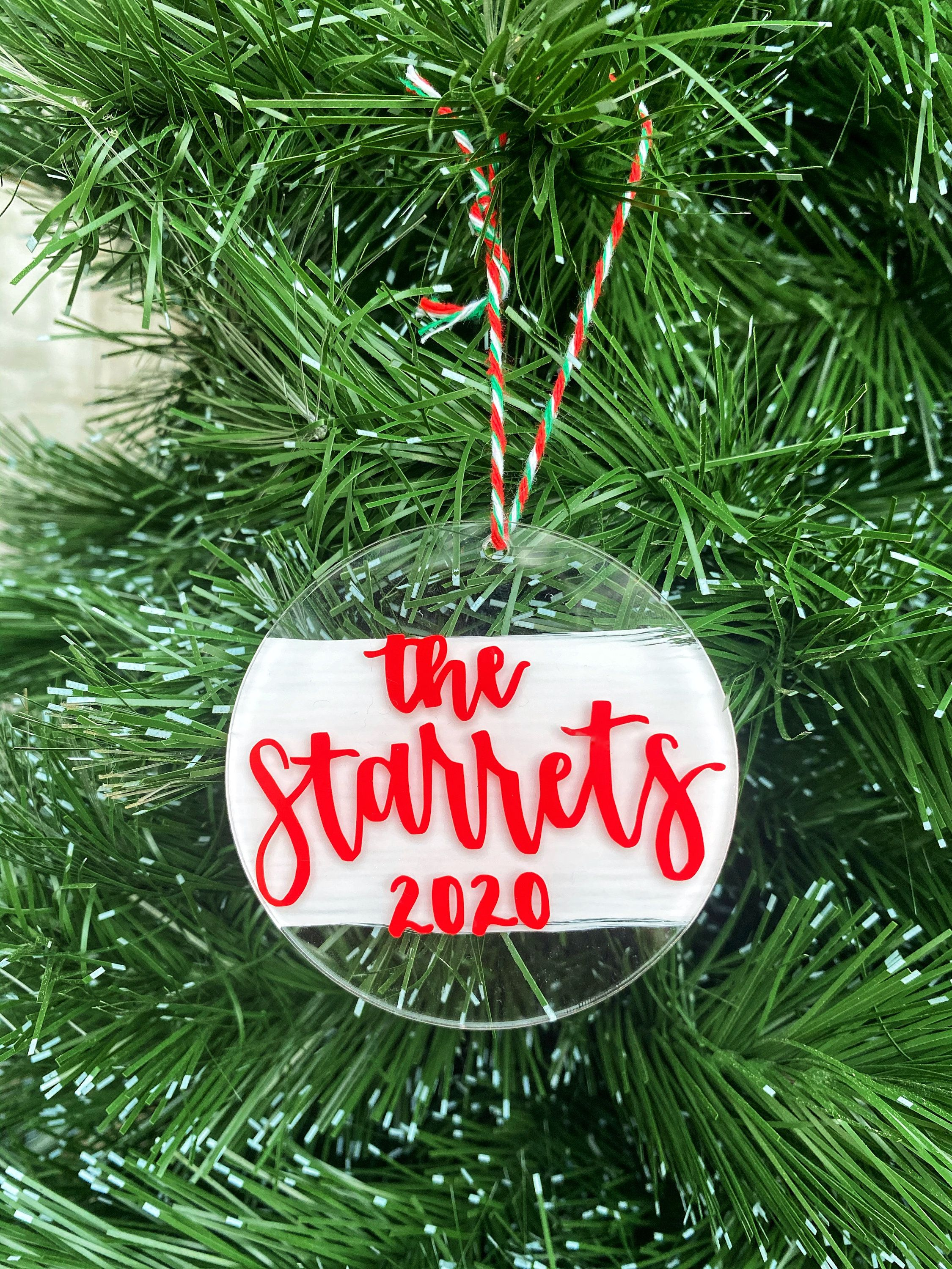 Custom Acrylic Ornament 2020 Ornament Wedding Ornament Etsy Christmas Calligraphy Clear Christmas Ornaments Wedding Ornament