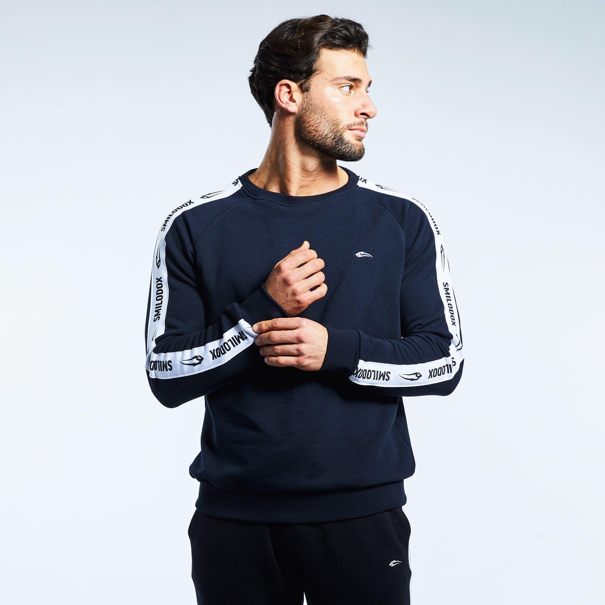Sweatshirt Stripe – Blau / S
