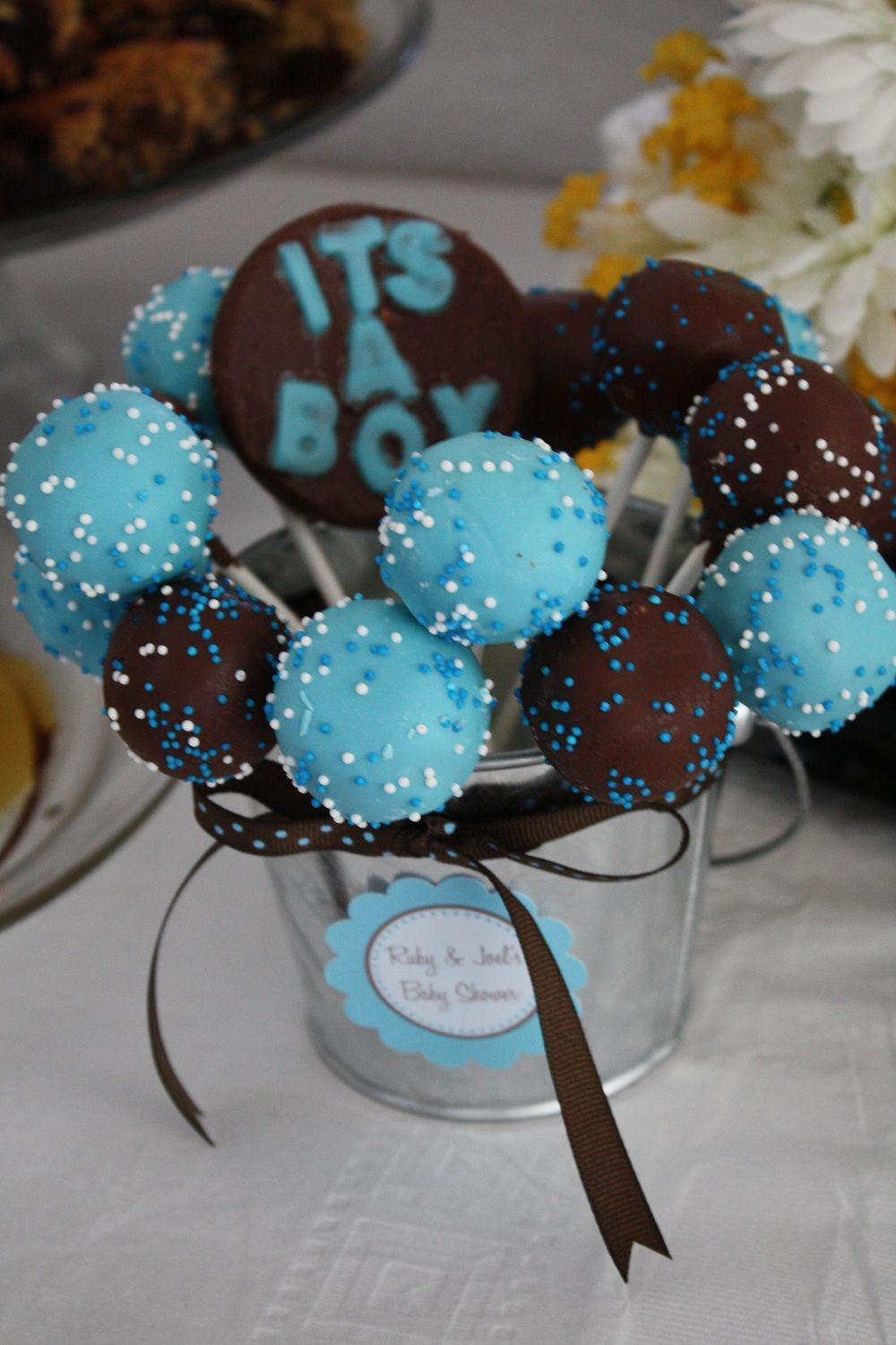 Pintrest Baby Boy Shower Themes Its A Boy Cake Pops Its A Boy Cake Pops