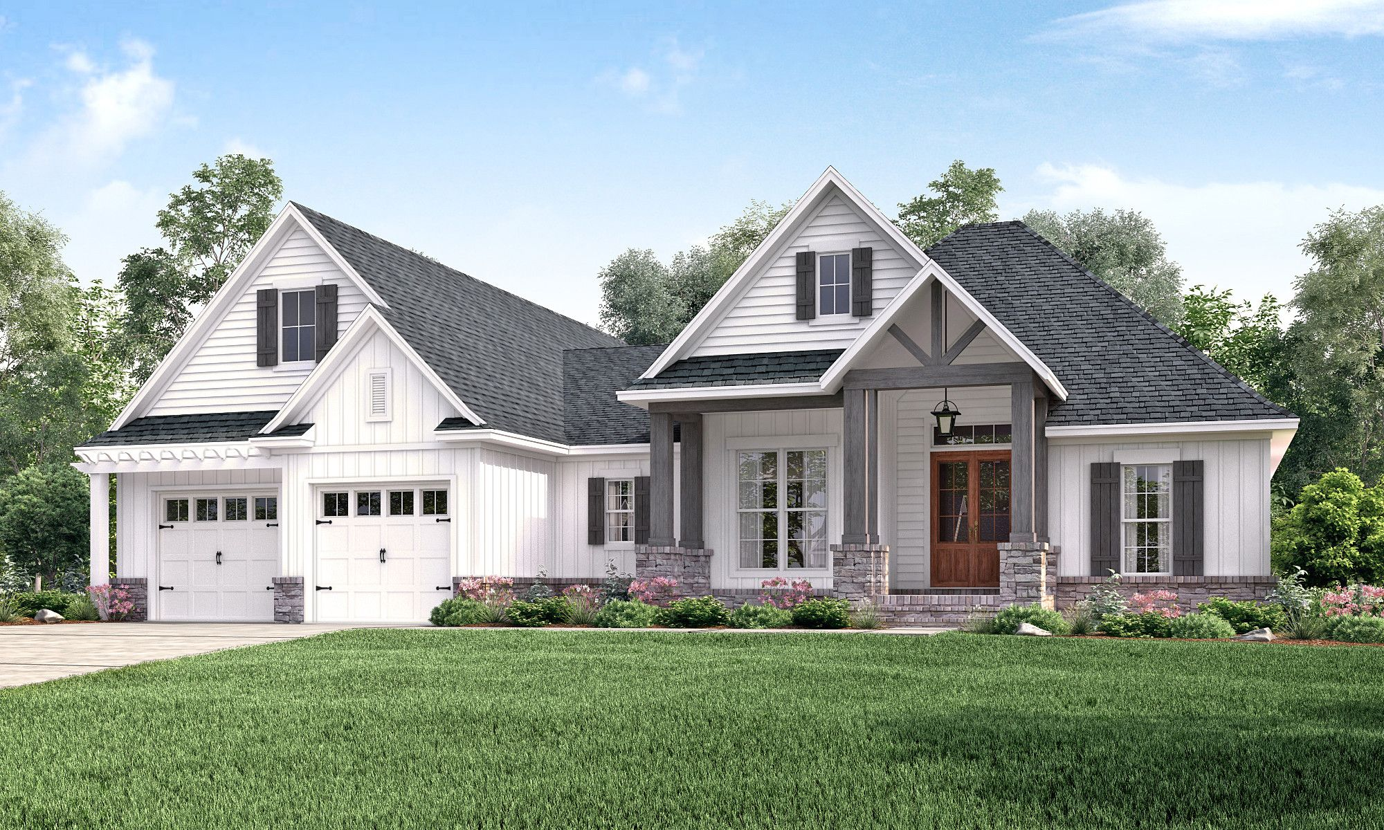 alpine court house plan | master closet, laundry rooms and craftsman