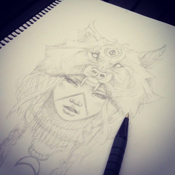 Wolf Girl Drawing Tumblr