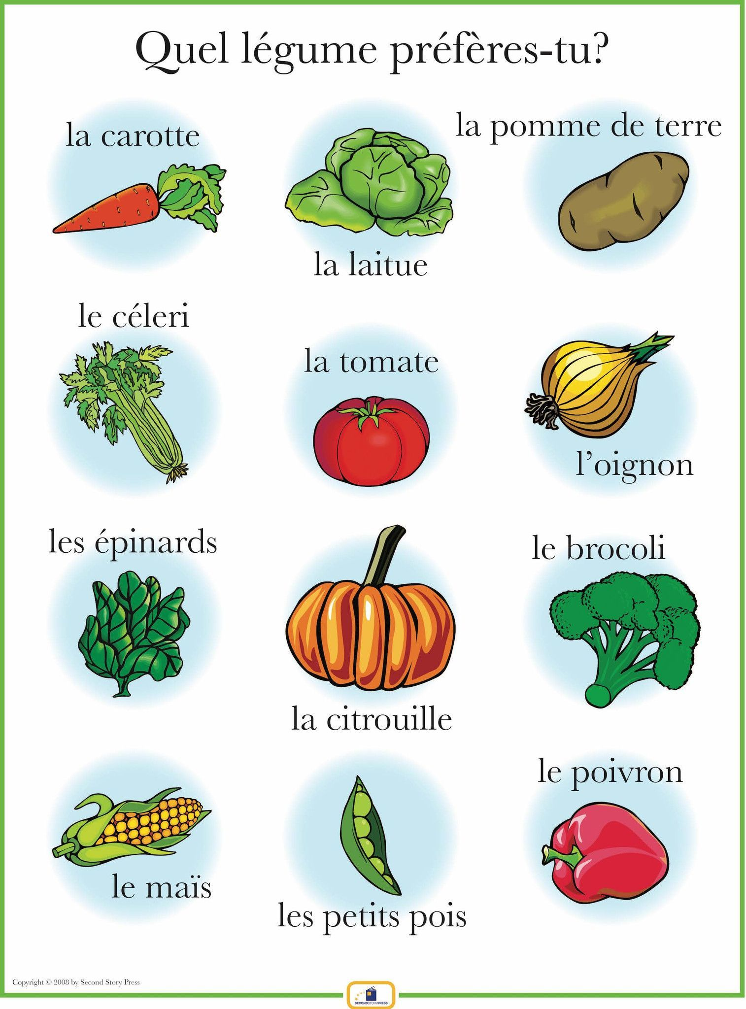 Introduce Vegetables With This Colorful 18 X 24 In Poster