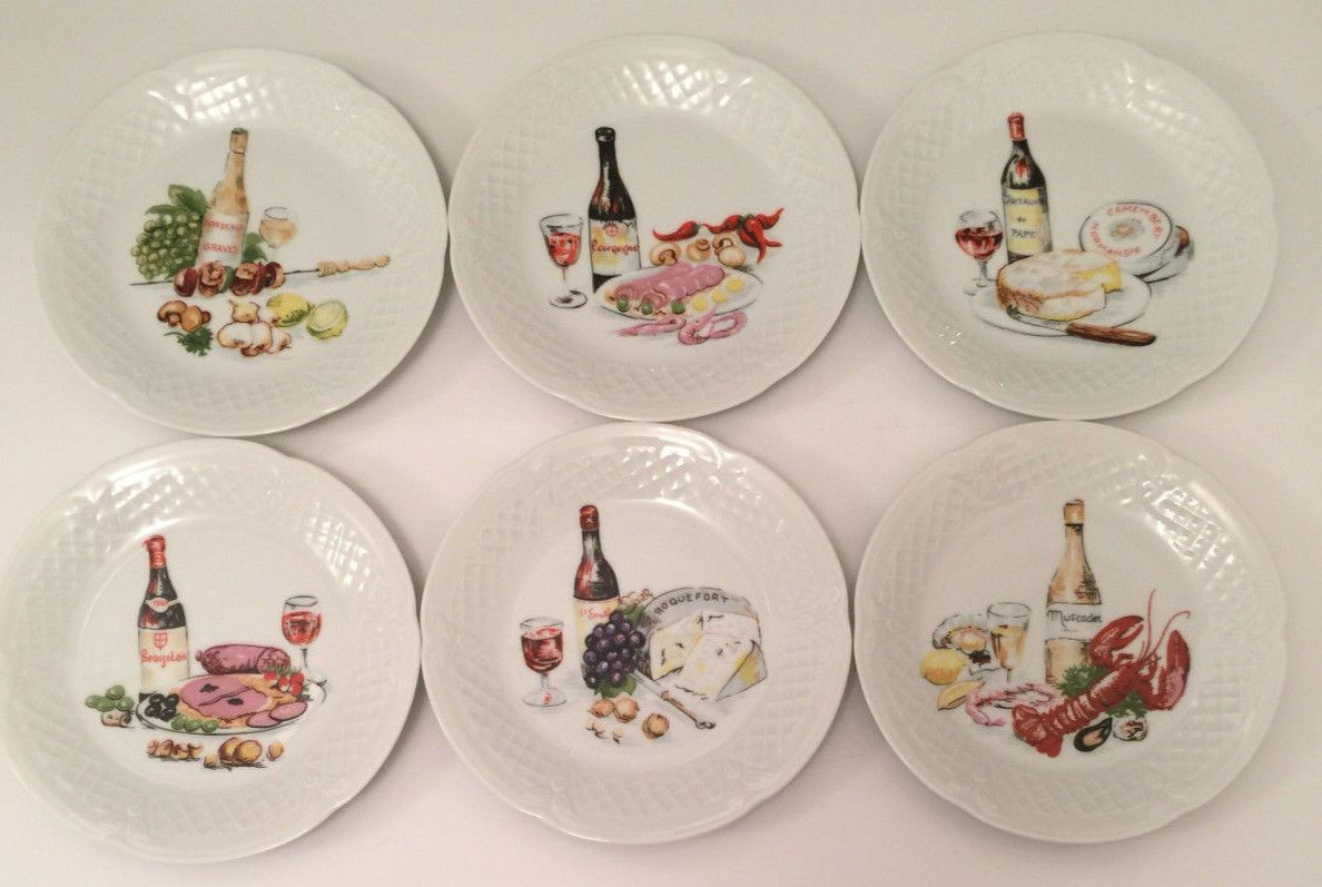Limoges Porcelain Appetizer Plates by Philippe Deshoulieres ...