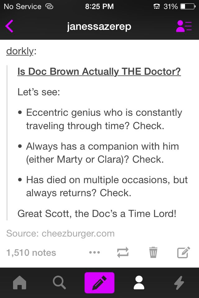 Doc brown from back to the future is a time lord!!!
