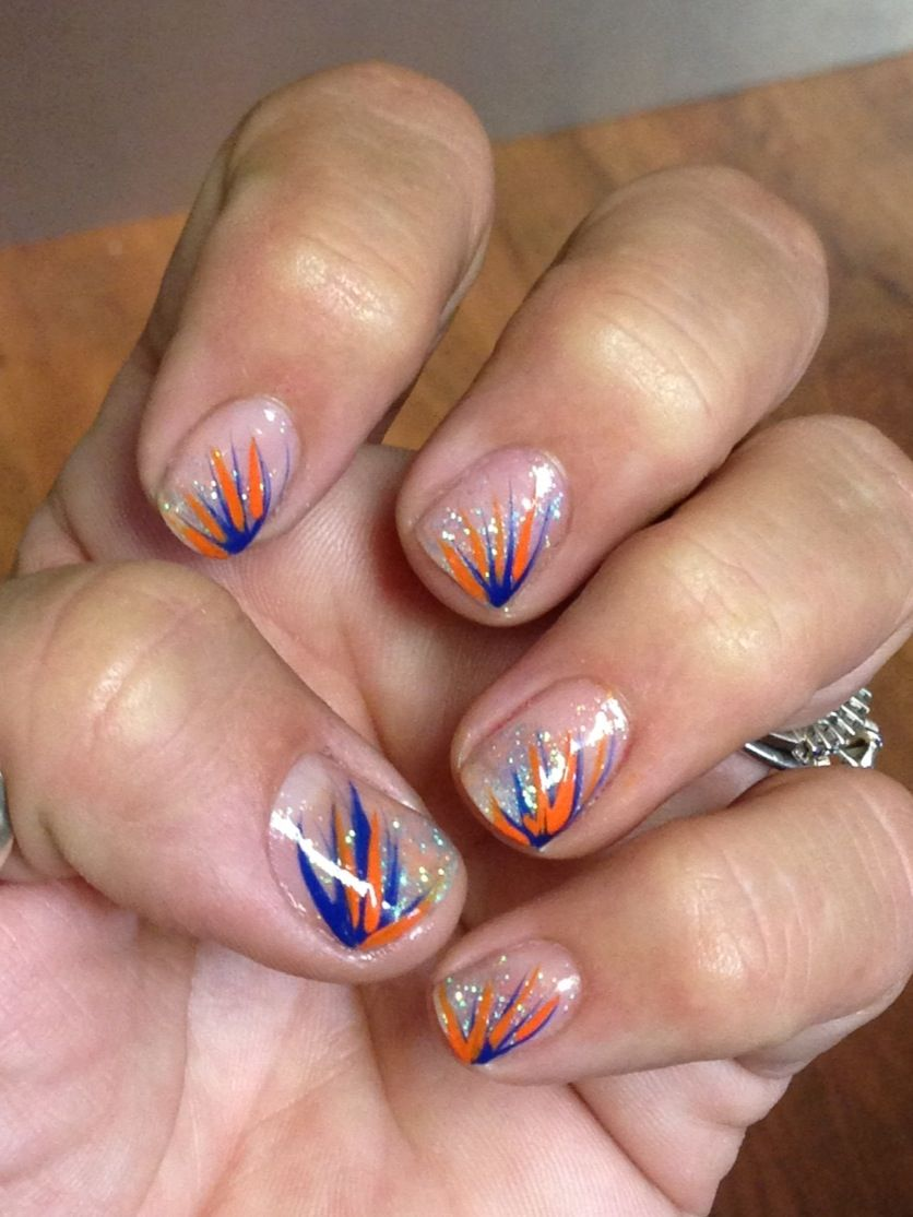 Gator nail art | nails | Pinterest | Broncos nails, Crazy nail art ...
