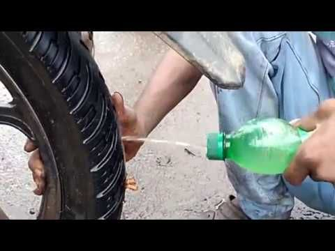 How To Fix Tubeless Tyre Puncture In 5 Minutes Tubeless Tyre