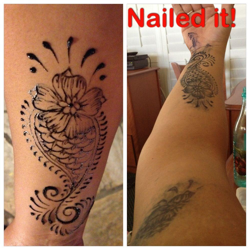 Jengua (like henna) tattoo gone bad! Smeared while I slept ...